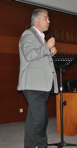 Ignacio Blanco durante la conferéncia