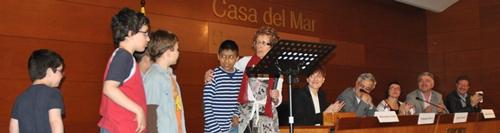 Los niños, Pilar y los ponentes